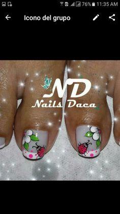 Uñas Pedicure Nail Art, Toe Nail Art, Mani Pedi, Toe Nails, Purple And Pink Nails, Spring Nails, Ladybug, Nail Art Designs, Lily
