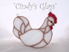Stained Glass Chicken by CindysGlass on Etsy, $18.95