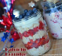 Oats in a jar!  Do your kids like overnight oats?  Not all kids like the texture of cooked oats so maybe give this a try. #healthyfourth #overnightoats #swissoats