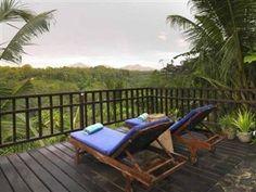 Villa Indah Ubud Bali - Balcony/Terrace  sedikit diatas 1 jt , amazing view, tp kayaknya bangunan tua Stair Railing, Stairs, Ubud Resort, Bali, Ubud Hotels, Outdoor Furniture, Outdoor Decor, Sun Lounger, Villa