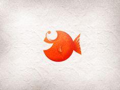 Orange_fish_logo2 #logo #design #inspiration