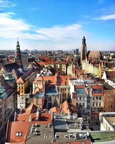 Wrocław from the rooftops. Soothing...