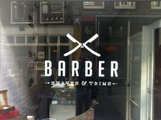 Barber shop logo, Amsterdam