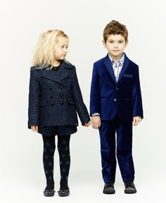 Little Marc Jacobs super smart midnight blue tailoring for girls and boys for winter 2013