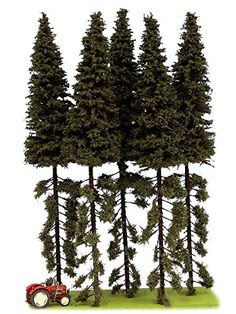Manufacturer: Model-Scene Art.-No. SK251 EAN: 8592535122514 Gauge H0 1:87 Height: 230 - 270 mm Package content: 5 Stk.Spruce-border tree one side green 230 - 270 mm. Content: 5 pieces...
