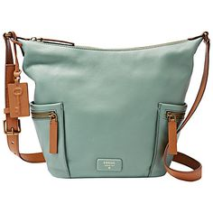 Fossil Sea Glass Emerson Small Hobo ( 198) ❤ liked on Polyvore featuring  bags 7d975844e0a7d