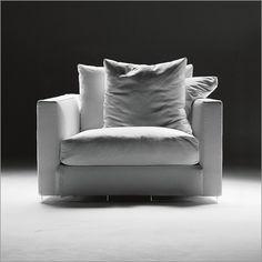flexform magnum large armchair, fabric or leather
