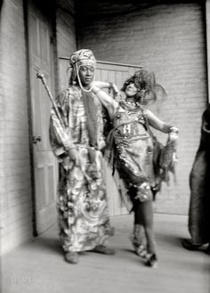"January 10, 1922. New York. ""McRay and Baroness v. Freytag."" Claude McKay, Jamaican writer and a figure in the Harlem Renaissance, and avant-garde artist-poet Elsa von Freytag-Loringhoven, the ""dadaist baroness"" of Greenwich Village."