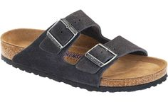 "Birkenstock <span class=""footbed"">Soft Footbed</span> <span class=""color"">Velvet Gray</span> <span class=""material"">Suede</span> <span class=""silhouette"">Arizona</span>"