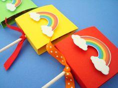 Rainbow Lollipop Covers Rainbow Party Favors Set by SimpleTastes, $12.50