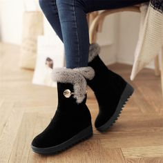 Cheap women snow boots, Buy Quality snow boots directly from China fashion boots Suppliers: Plus Size 34-42 Height Increasing Women Snow Boots Platform Woman Creepers Slip On Ankle Boots Fashion Casual Winter warm Shoes