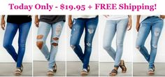 Jeggings Sale - Today Only - $19.95 + FREE Shipping!