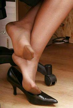 Cote de pablo in stockings all