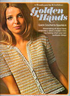 Genuine Original GOLDEN HANDS 1970s Knitting Crochet and Craft Magazine Part 8 Needlework Sewing Paper Craft