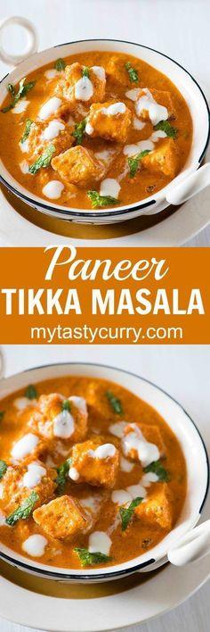 Paneer Tikka Masala is rich and flavourful Paneer dish. The recipe of this restaurant style Paneer tikka masala is inspired from popular British Curry Chicken Tikka Masala. #TikkaMasala #30Minutes #indianFood via @rekhakakkar