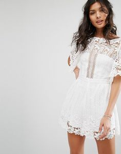 f871cd3a4071 Shop Stevie May Violante Lace Playsuit at ASOS.