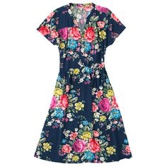 Cath Kidston Hampstead Rose Crepe Dress £75 not sure i likfe this as much as the white dress, and definitely not as much as the skirt in the same fabric