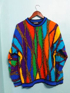 Mens Authentic Coogi Sweater Hip Hop Cosby Sweater 80s 90s