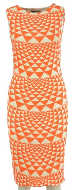 Optical Orange Dress by Fausto Puglisi