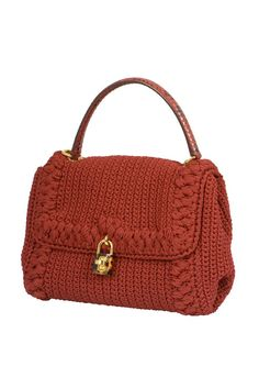 Dolce & Gabbana Dolce&gabbana Bag Jewel Toned Lush Crochet Snakeskin Handle Mint 0MjmrIo