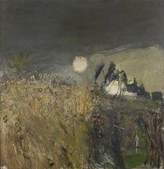 'A Field of Oats' (1962) by Scottish artist Joan Eardley (1921-1963). Oil on board, 100.2 96.7 cm. via BBC