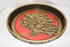 Iroquois Head Beer & Ale serving tray Made in USA
