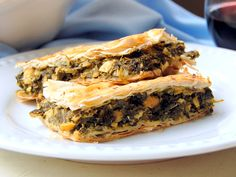 <p>Spanakopita is one of my all-time favorite things to eat. I wanted to try and create a healthy version of this traditional Greek dish with little to no-oil and make it vegan.