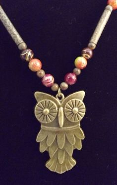 'Owl Necklace' is going up for auction at  2pm Mon, Jul 22 with a starting bid of $7.