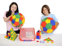 Polydron is the original construction shape, recognised in many countries as the world's leading resource for teaching shape and space; two and three-dimensional geometry, and design and technology. It is used as a major aid for developing spatial awareness and is easily used by children, giving excellent play value, although it is versatile enough to be utilised for complex mathematical theories. The unique joints readily snap together giving a superior hinge.