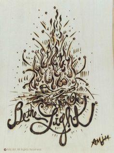 Inspirational Woodburn  Original Wood Art by AMJart on Etsy, $75.00