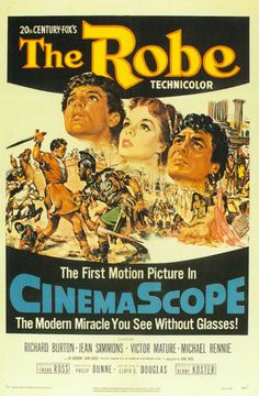 The Robe is a 1953 American Biblical epic film that tells the story of a Roman military tribune who commands the unit that crucifies Jesus.