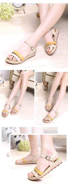 AIER Summer Fashion Leather Gladiator Sandal