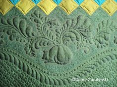 "Close-up, ""Blossom's Journey"" by Diane Gaudynski, Pilgrim/Roy Challenge Quilt 2012"
