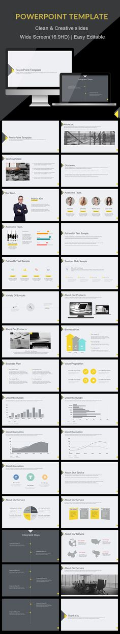 Clean - PowerPoint Presentation Template. Download here: https://graphicriver.net/item/clean-powerpoint-presentation-template/17326804?ref=ksioks