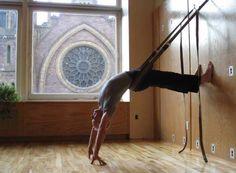 love wall yoga! # awesome