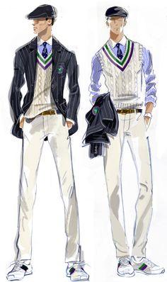 Polo Ralph Lauren sketch of the Wimbledon uniforms