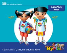 A MyPlate Meal is a story for beginning #readers in #kindergarten. There are also 5 other stories about the food groups from Discover #MyPlate. #parents #education #literacy http://www.fns.usda.gov/tn/discover-myplate-emergent-reader-mini-books