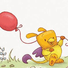 Illustration by AARON ZENZ Red Balloon, Balloons, Animal Illustrations, Winnie The Pooh, Childrens Books, Illustrator, Disney Characters, Fictional Characters, Traditional