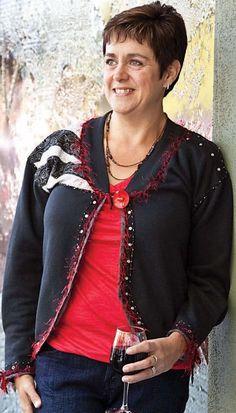Black Trimmed Sweatshirt Jacket, Ladies Sweatshirt Jacket, Women's Sweatshirt jacket.  https://www.etsy.com/listing/272061034/black-trimmed-sweatshirt-jacket-ladies?ref=shop_home_active_16