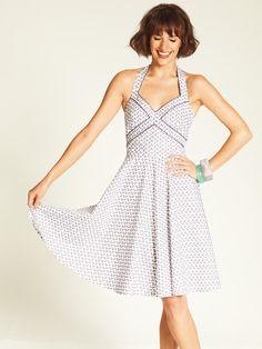 Burda Style: Damen - Kleider - Sommerkleider - Neckholder Kleid - 50er - Perwoll