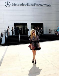 Diana Janec of Dressed Up Alligators making a W118 By Walter Baker statement at #mbfw #NYC #fallstyle #walterbaker
