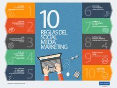 10 reglas del Social Media Marketing #infografia  Ideas Negocios Online para www.masymejor.com