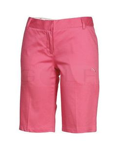 NEW NWT $62.00 PUMA GOLF SATEEN BERMUDA SHORTS SHOCKING PINK SZ 4