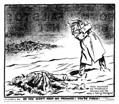 Hitler grew increasingly frustrated as things went from bad to worse in Russia. The German soldiers fought with extraordinary bravery, determination and ruthlessly, but Hitler was not satisfied. In his last days he vent his frustration on the Wehrmacht.. RAW WW2 HISTORY REDEFINED: World War Two In Cartoons By DAVID LOW
