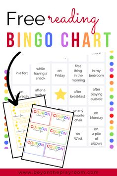 Reading Bingo Chart printable to encourage kids to read more! This free printable for kids is a fun way to promote reading at home. This Bingo Chart can be used for preschoolers and school aged kids! Spelling Activities, Reading Activities, Literacy Activities, Reading At Home, Kids Reading, Free Reading, Reading Bingo, Reading Charts, Bingo For Kids