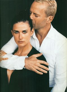 Demi Moore & Bruce Willis by Peter Lindbergh