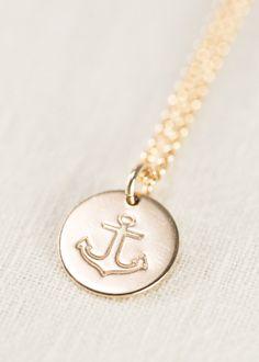 Heleuma-Halskette gold Anker Halskette gold von kealohajewelry