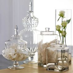 A gleaming collection of glass vases can instantly add a whole new sparkly look and feel to any room.