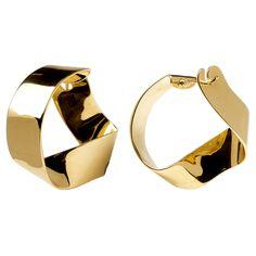 Gravity gold earrings P D Paola. Gold Gold, 18k Gold, Bridal Earrings, Women's Earrings, Jewelry Accessories, Jewelry Design, Gold Models, Gold Earrings Designs, Carat Gold