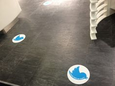 'Tweet from our seat' floor Stickers